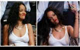 Rihanna Maça Sütyensiz Gitti