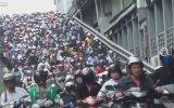Tayvan'da akılalmaz motosiklet trafiği
