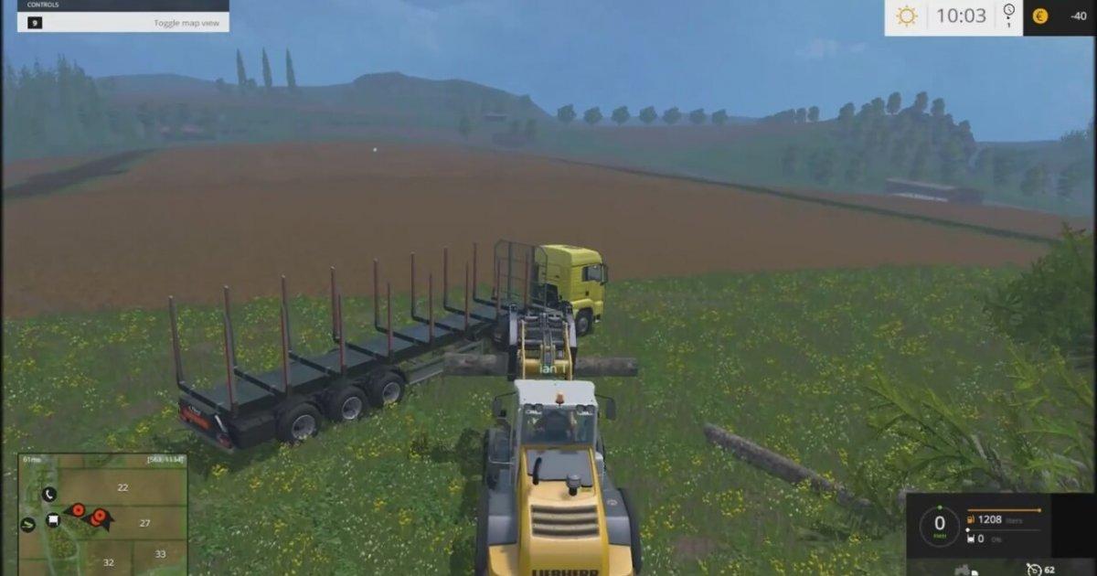 farming simulator 2015 multiplayer gameplay 1 logging. Black Bedroom Furniture Sets. Home Design Ideas