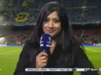 Barcelona - Roma Maçı Öncesi Canlı Yayında Olduğunu Unutan Muhabir